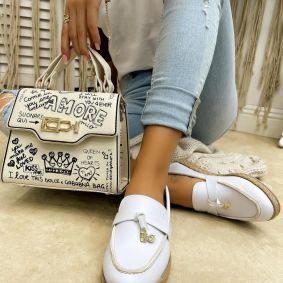 ESPADRILLES WITH JUTA - WHITE