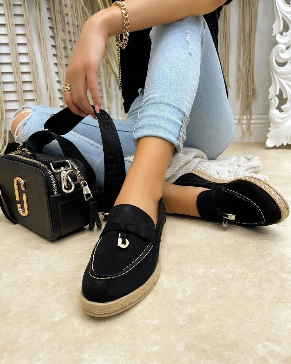 VELOUR ESPADRILLES WITH JUTA - WHITE