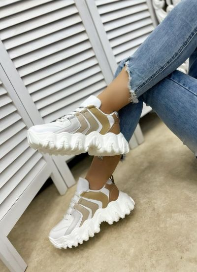 HIGH SOLE SNEAKERS - WHITE/BEIGE