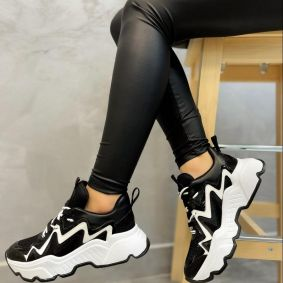 HIGH SOLE SNEAKERS - BLACK