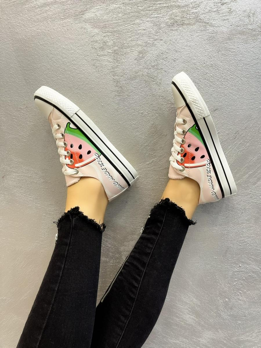 WATERMELON SNEAKERS - WHITE