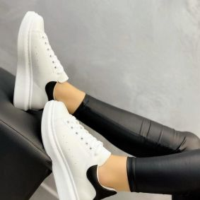 HIGH SOLE SNEAKERS - WHITE/BLACK