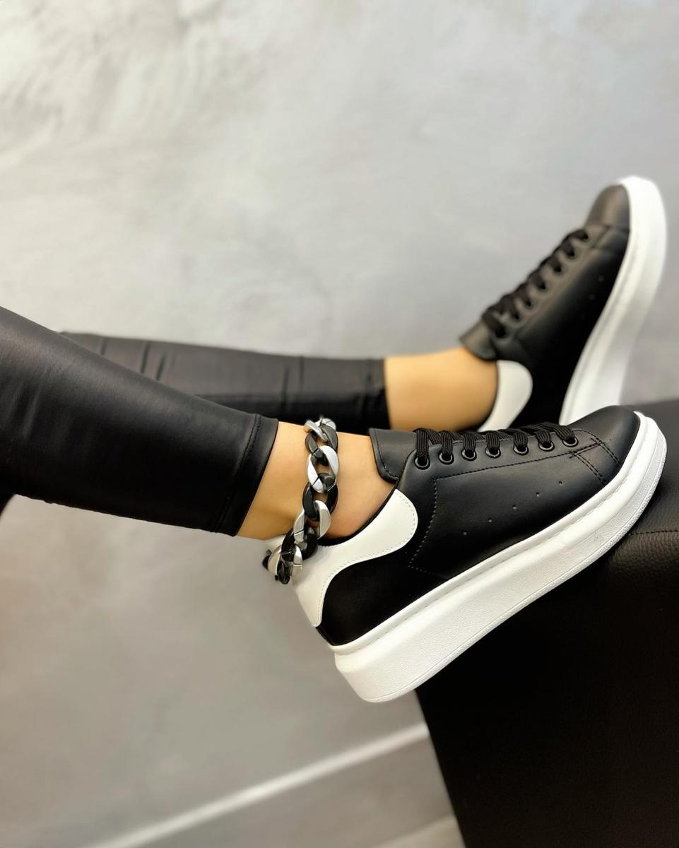 HIGH SOLE SNEAKERS - BLACK/WHITE