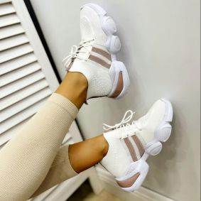 STRETCH SNEAKERS - WHITE