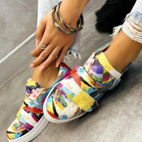 COLORFUL SNEAKERS WITH VELCRO BAND