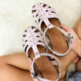 Leather sandals ROME - ROSE