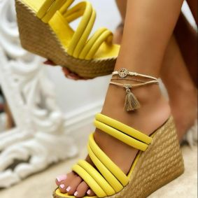 WEDGE SLIPPERS - YELLOW