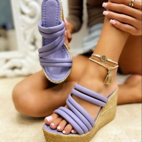 WEDGE SLIPPERS - PURPLE