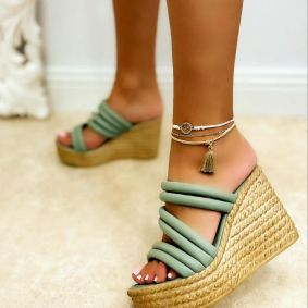 WEDGE SLIPPERS - MINT