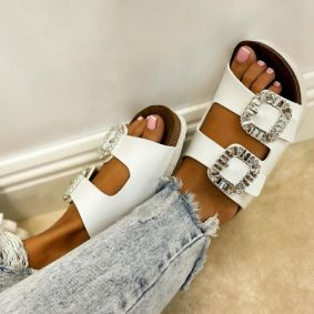 Women Slippers HALA  - WHITE