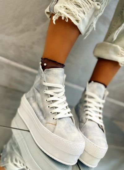 HIGH SOLE ANKLE SNEAKERS - GRAY