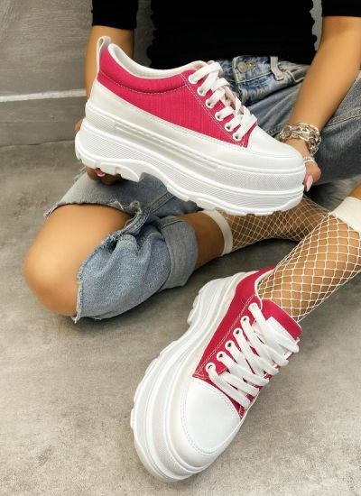 HIGH SOLE SNEAKERS - PINK