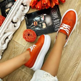 HIGH SOLE SHALLOW SHOES - ORANGE