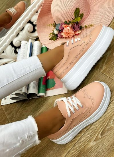 HIGH SOLE SHALLOW SHOES - ROSE