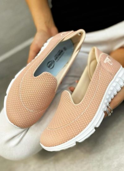 SHALLOW PULL ON SNEAKERS - ROSE