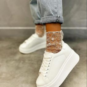 HIGH SOLE SNEAKERS - WHITE