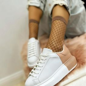 HIGH SOLE SNEAKERS - WHITE/ROSE