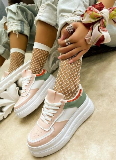 HIGH SOLE SNEAKERS - ROSE