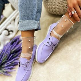 OXFORD LACE UP SHOES - PURPLE
