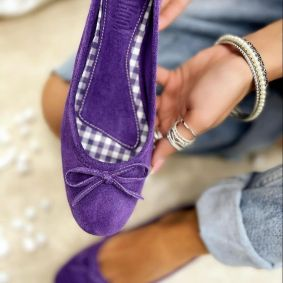 Leather ballet flats BIMBI - VIOLET