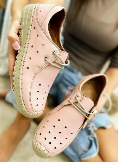 Flat leather shoes LYRA - ROSE