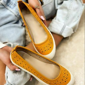 LEATHER HOLLOW FLATS - OCHER