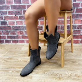 HOLLOW ANKLE BOOTS - GRAY