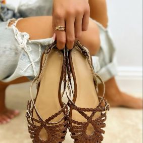 Women sandals DALAJA  - BROWN