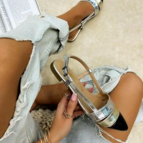 FLAT SANDALS - SILVER