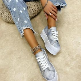 HIGH SOLE SNEAKERS - BLUE