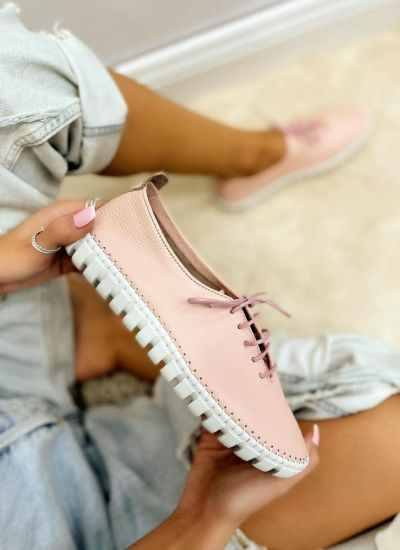 Leather sneakers BUBBLE - ROSE