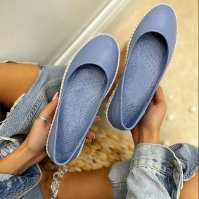 Leather ballet flats COCCO - BLUE