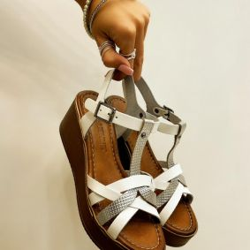 Leather sandals GIULIA - WHITE