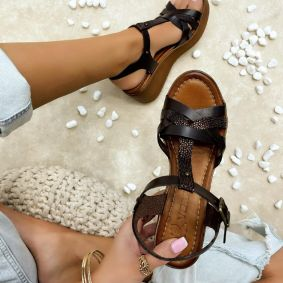 Women sandals GIULIA - BROWN