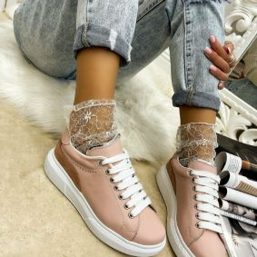 Leather sneakers OLIVIA -