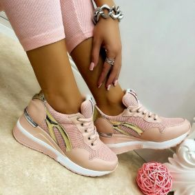 HIDDEN HEEL SNEAKERS - ROSE
