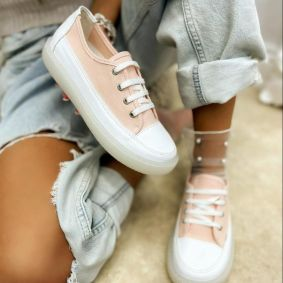 SNEAKERS WITH HIGH SOLE - ROSE
